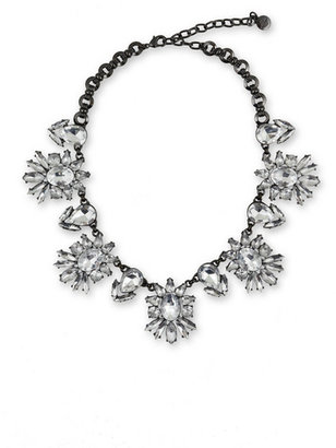 RJ Graziano Gunmetal and Roses Necklace