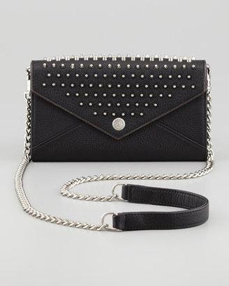 Rebecca Minkoff Studded Chain-Strap Wallet, Black