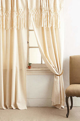 Anthropologie Knotted Macrame Curtain