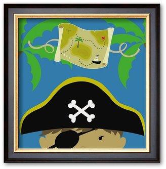 """Art.com Peek-a-Boo Heroes: Pirate"""" Framed Art Print by Yuko Lau"""