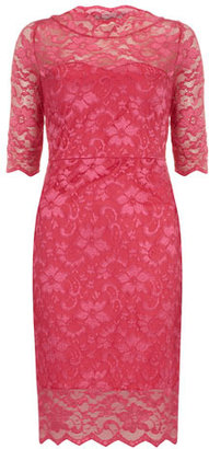 Dorothy Perkins Cerise lace dress