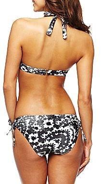 JCPenney Bisou Bisou® Inked Floral Pushup Bra Halter Swim Top
