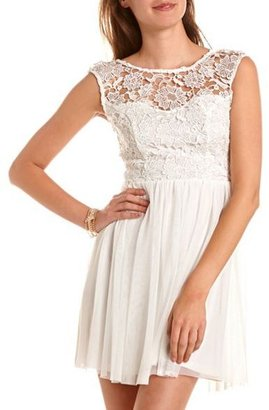 Charlotte Russe Delicate Lace A-Line Dress