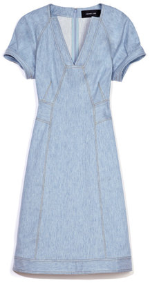 Derek Lam Stretch Denim A-Line Dress