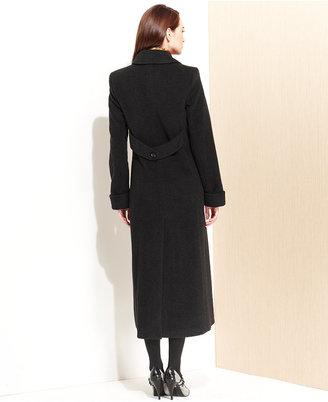 Jones New York Classic Wool-Blend Maxi Walker Coat