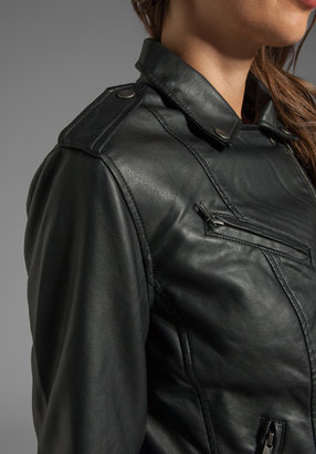 Obey Sweet Revenge Faux Leather Moto Jacket