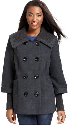 Style&Co. Coat, Double-Breasted Pea Coat
