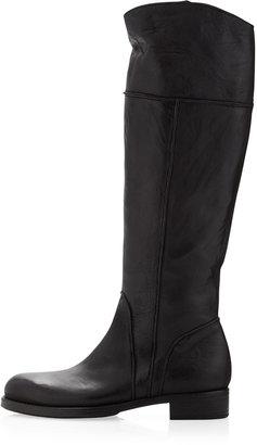 Alberto Fermani Annata Tumbled Leather Boot, Nero