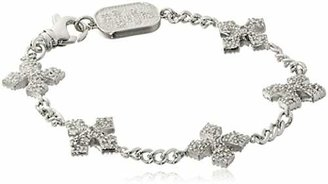 "King Baby ""Cross"" 3D Pave Cubic Zirconia MB Cross Bracelet $370 thestylecure.com"