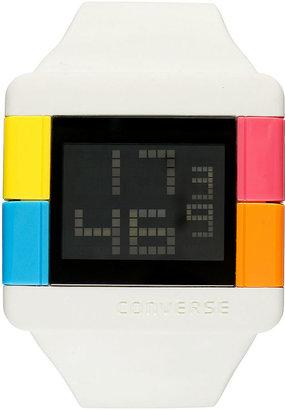 Converse Watch, Unisex Digital High Score White Silicone Strap 47mm VR014-100