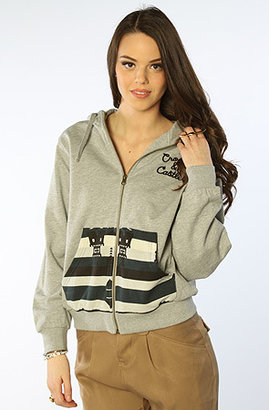 Crooks and Castles The Mayan Dolman Zip Hoody in Heather Grey