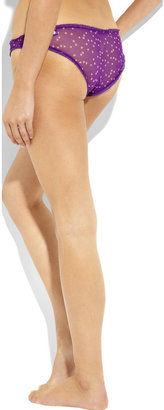 Stella McCartney Cate Blossoming low-rise silk briefs