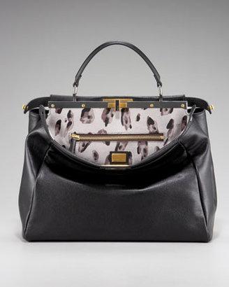 Fendi Peekaboo Calf Hair Handbag