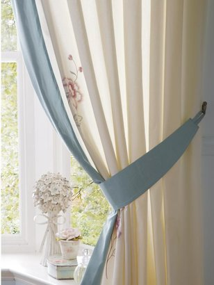 Colette Lined Curtains With Tie-backs