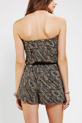 Urban Outfitters Angie Printed Strapless Romper