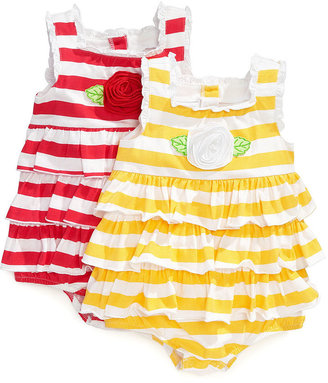 First Impressions Baby Bodysuit, Baby Girl Striped Sunsuit