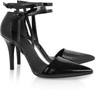 Alexander Wang Textured patent-leather pumps