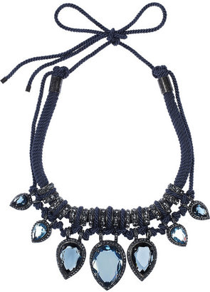 Lanvin Crystal and cord necklace