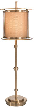 Three Ring Brass Accent Floor Lamp
