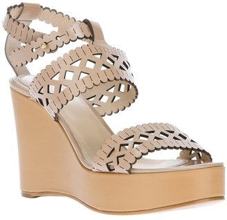 Chloé 'Lace Wedge Sandal'