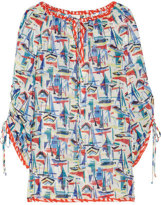 Milly Marmont printed silk and cotton-blend tunic