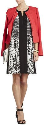 BCBGMAXAZRIA Ava Print-Blocked Dress