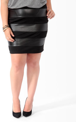 Forever 21 Faux Leather Panel Skirt