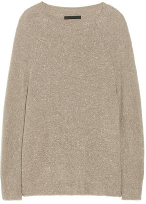 Alexander Wang Donegal flecked cashmere and cotton-blend sweater