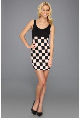 Type Z Keiba Checker Print Dress (Peach) - Apparel
