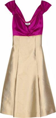 Moschino Cheap & Chic Two-tone satin dress