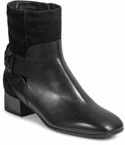 Aquatalia Lilly Leather Suede Booties