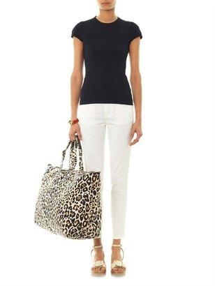 Stella McCartney Leopard-print canvas travel bag
