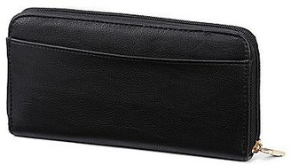 Lulu by GuinnessTM Chic Bow-Embellished Zip-Around Wallet