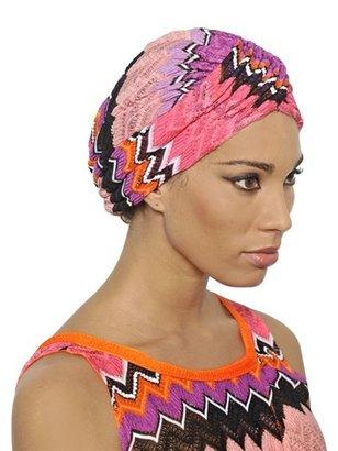 Missoni Zig Zag Viscose Cotton Knit Turban