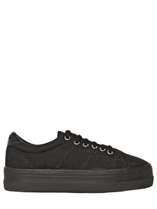 No Name 40mm Canvas Wedged Sneakers