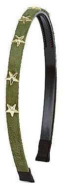 JCPenney Star-Studded Suede Headband