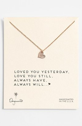 Dogeared 'Love - Sparkle Heart' Boxed Pendant Necklace