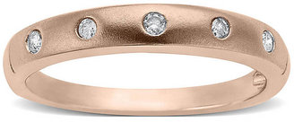 Lord & Taylor Diamond-Accented 14 Kt. Rose Gold Ring, 0.1 ct. t.w.