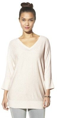 Mossimo Women's 3/4 Sleeve V-Neck Value Sweater - Assorted Colors