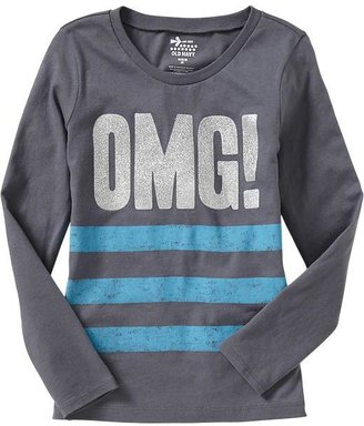 Old Navy Girls Long-Sleeved Graphic Tees
