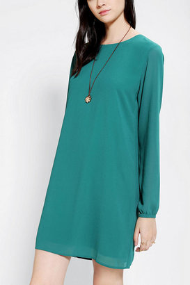 Urban Outfitters Lucca Couture Chiffon Long-Sleeve Frock Dress