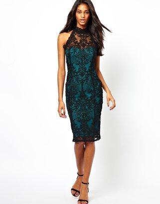 Lipsy Midi Dress in Lace