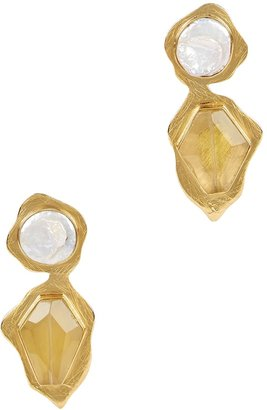 LIYA Goldfinch Gold-plated Drop Earrings
