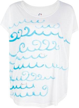 Tsumori Chisato Cats By wave print t-shirt