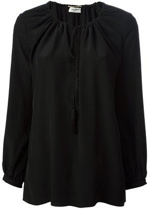 Saint Laurent drawstring neckline blouse