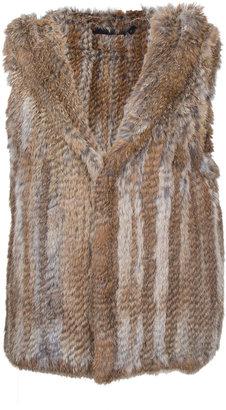 Scoop Hooded Fur Vest