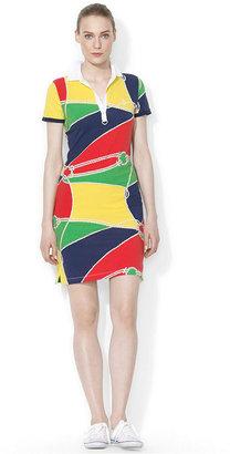 Lauren Ralph Lauren Colorblocked Rope-Print Polo Dress