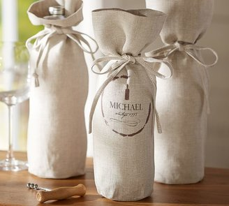 Pottery Barn Personalized &quotWine&quot Wine Bag