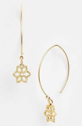 Mizuki 'Sea of Beauty' Diamond Flower Drop Earrings