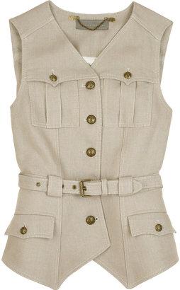 Proenza Schouler Linen twill waistcoat